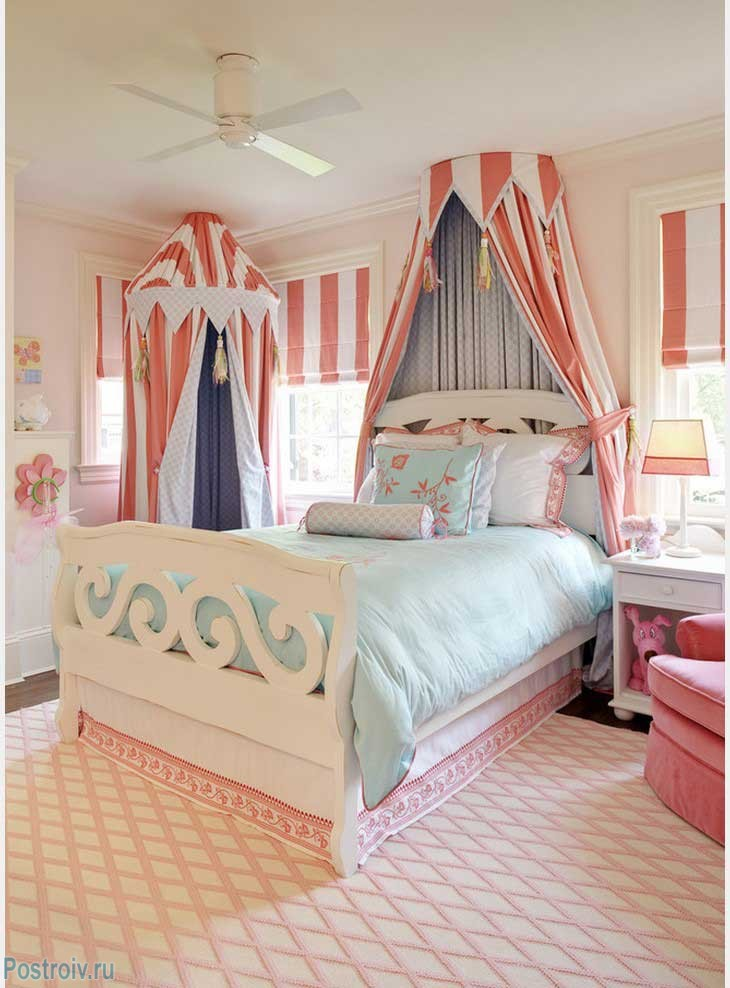 Детский балдахин над кроватью. Фото