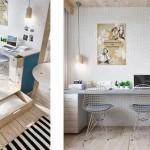 Как разделить зону спальни и рабочее место в студии. Фото
