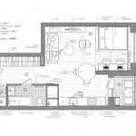 Планировка квартиры студии 40 кв. м. Фото