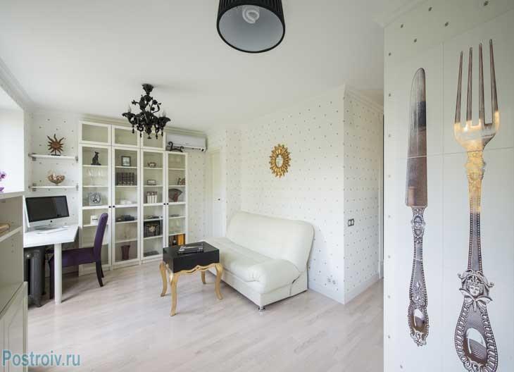 Декорирование стен в однушке панельного дома 30-35 кв. м. Фото