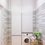 Оформление маленькой ванной со стиральной машинкой - Фото