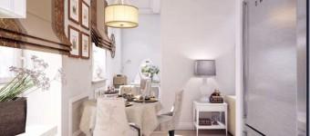 Дизайн однокомнатной квартиры 47 кв. м в стиле новая классика. Как с помощью перегородки зонировать квартиру.