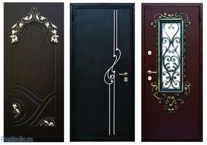 Примеры отделки входной двери - Фото 05