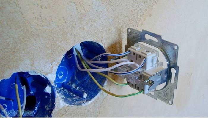 Подключение проходного выключателя двухклавишного и трехклавишного - Фото