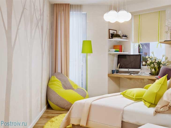 Интерьер подростковой спальни для девочки. Фото Rusu Ruslan