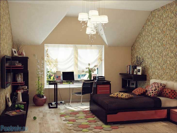 Красивый дизайн подростковой комнаты. Фото