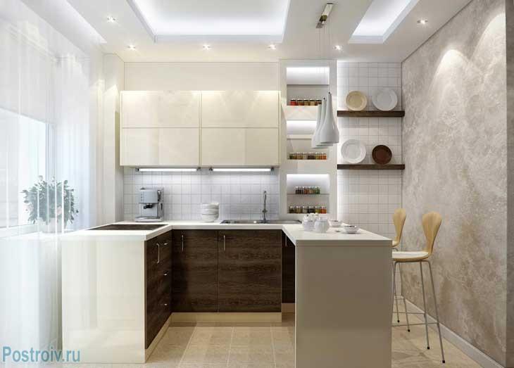 Планировка кухни в квартире - все виды - Фото