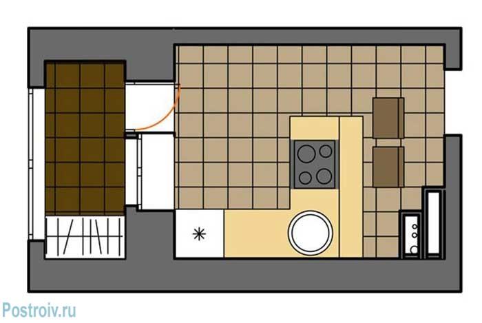 Угловая планировка маленькой кухни - Фото