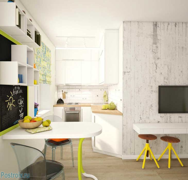 Зонирование пространства в квартире. Фото