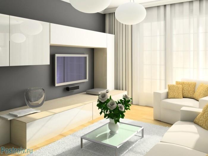 Освещение гостиной комнаты - Фото 06