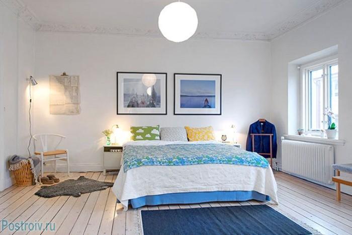 Дизайн спального помещения в скандинавском стиле - Фото 15