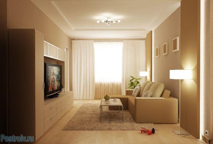 Важная роль освещения гостиной - Фото 05