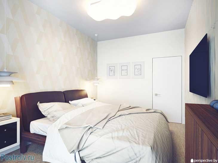 Большая белая спальня. Фото