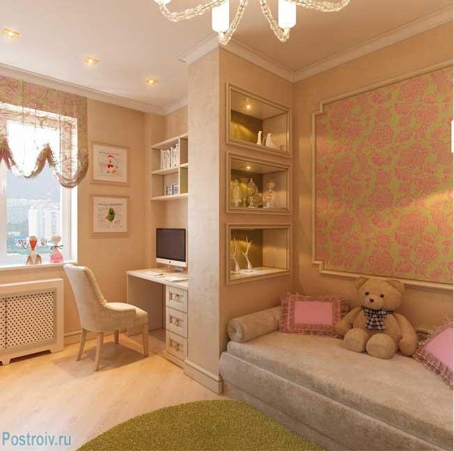 Как разделить детскую комнату на зоны. Фото