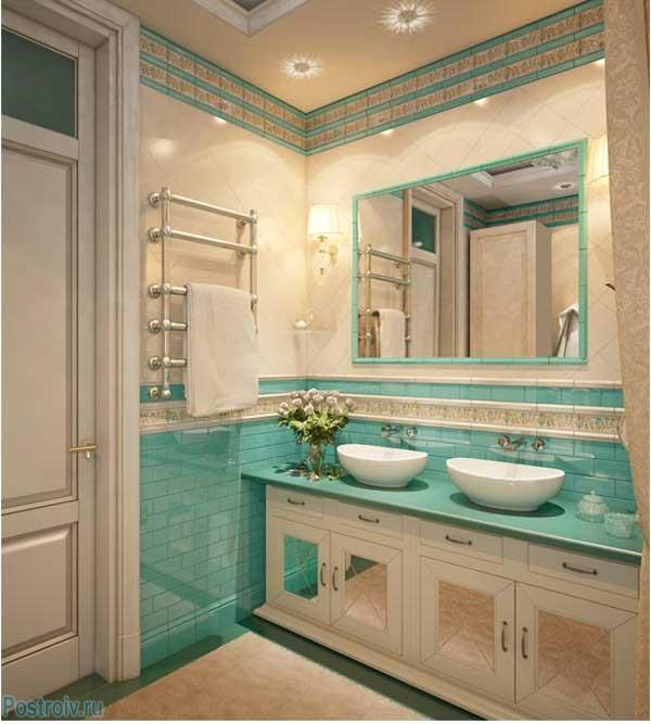 Ванная комната в английском стиле. фото