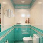 Туалет в бирюзовых тонах. Фото
