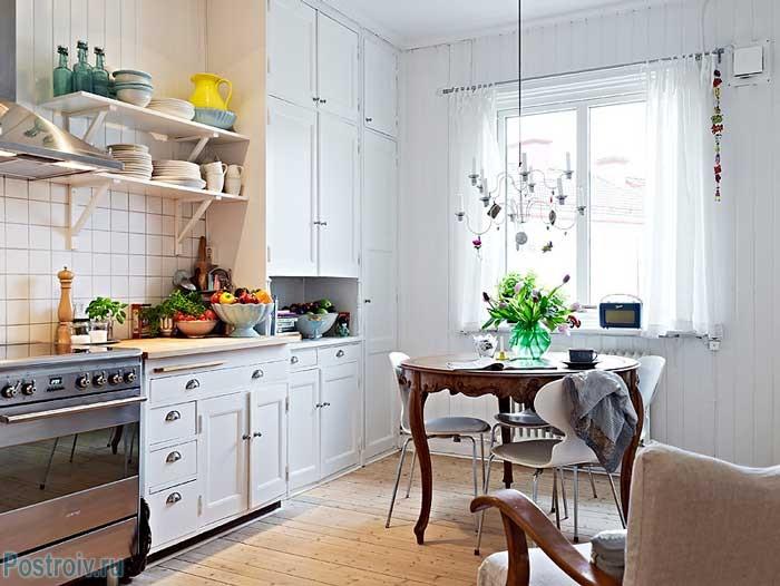 Недорогой вариант отделки кухни. Фото