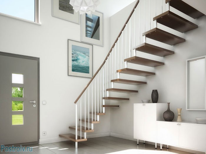 Дизайн лестницы для дома. Фото