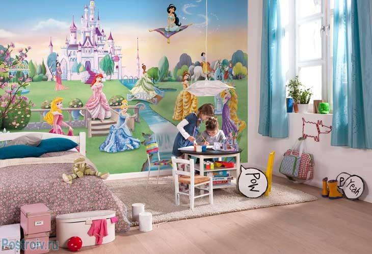 Детские фотообои для девочек. Фото