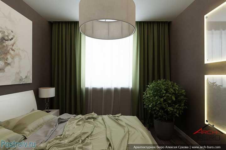 Зеленое растение в спальне, как декор. Фото