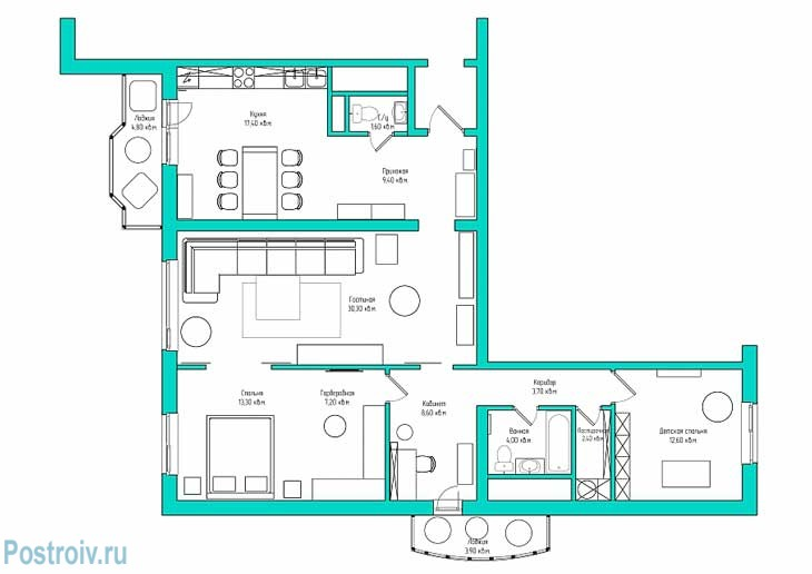 Перепланировка квартиры. Фото