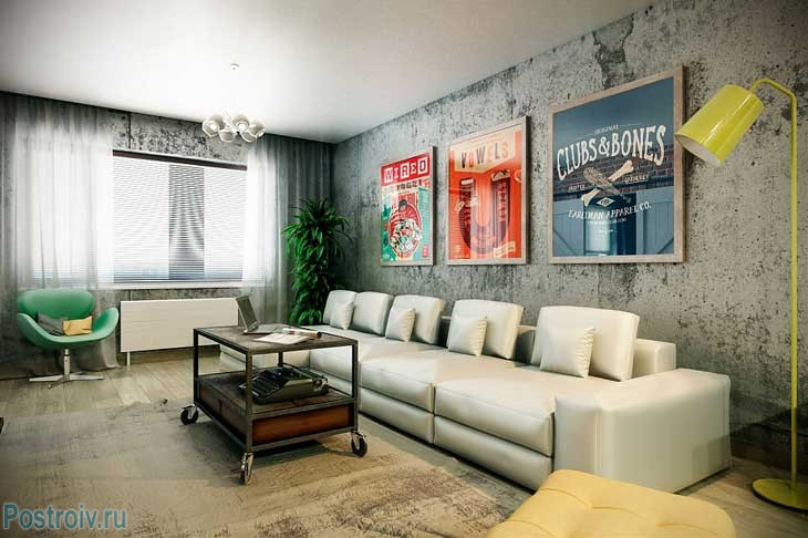 Декор стены над диваном в гостиной. Фото