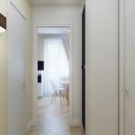 Проход на кухню. Слева санузел, справа комната. Фото