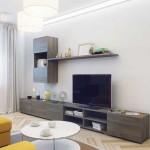 Современный и недорогой дизайн однокомнатной квартиры 36 кв. м. Фото проекта