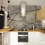 Небольшая угловая белая кухня IKEA. Фото