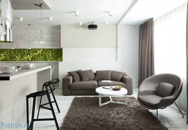 Современный ремонт 3-комнатной квартиры в Москве. Фото