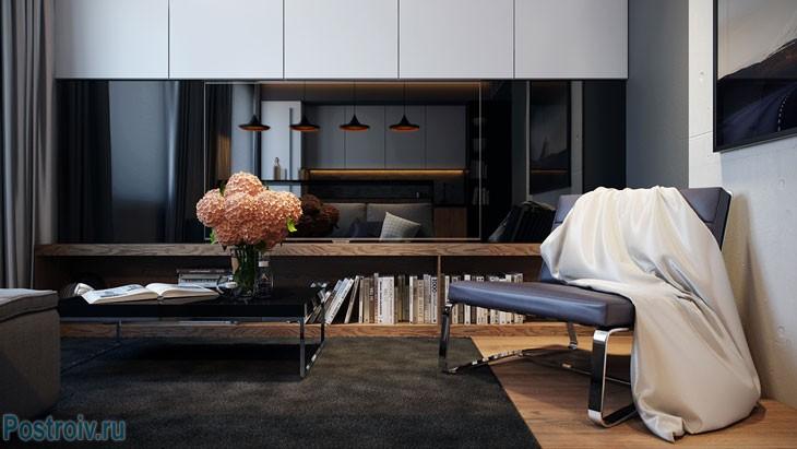 Комфортная зона отдыха. Фото совмещенной кухни с гостиной