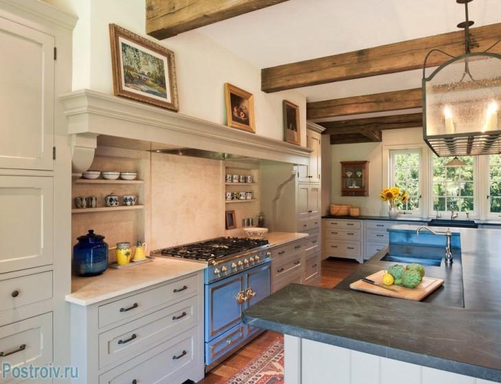 Кухня в стиле прованс - Фото 01
