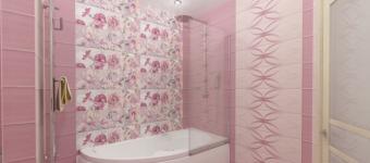 Розовый цвет в оформлении ванной комнаты. Отличное решение для квартиры и дома