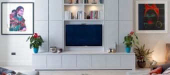Стена под телевизор: идеи дизайна и оформления