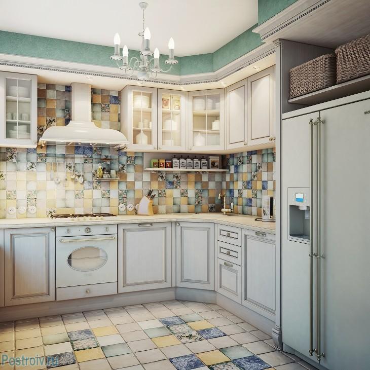 кухня в стиле прованс фото элементы декора и стиля интерьер кухни