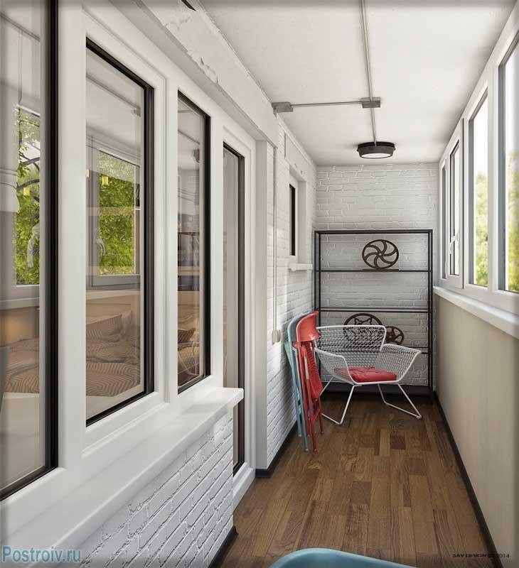 Отделка балкона в стиле лофт - Фото