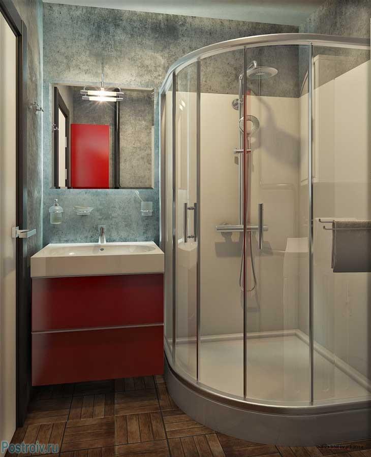 Дизайн ванной в современном стиле 4, 5, 6 кв.м. - Фото