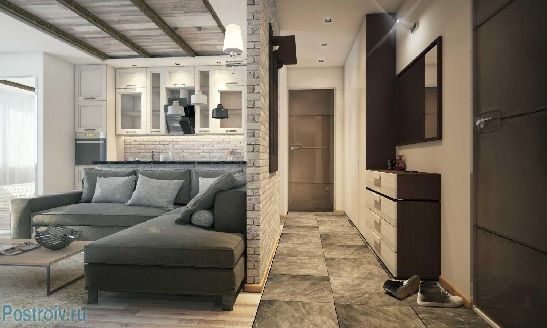 Дизайн студии 40 кв. м. Фото
