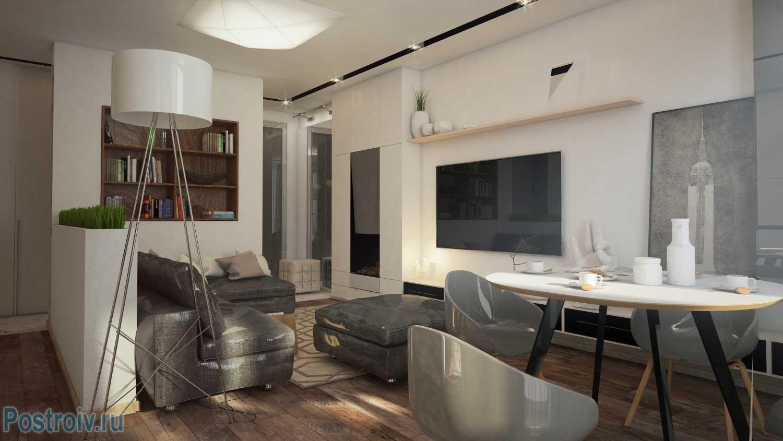 Дизайн квартиры студии 40 кв. м. Фото