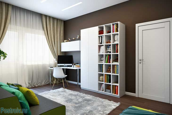 Дизайн детской в трехкомнатной квартире - Фото