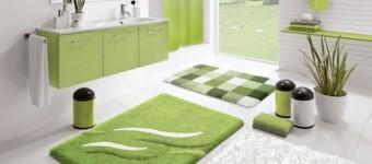 Зеленый цвет в интерьере ванной комнаты. Фото примеры