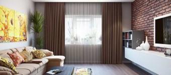 Дизайн трехкомнатной квартиры со смешением стилей: лофт, минимализм, сканди