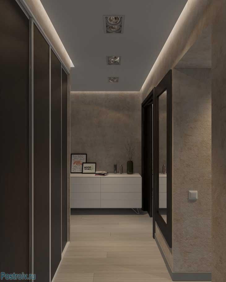 Дизайн узкого коридора в двухкомнатной квартире - Фото