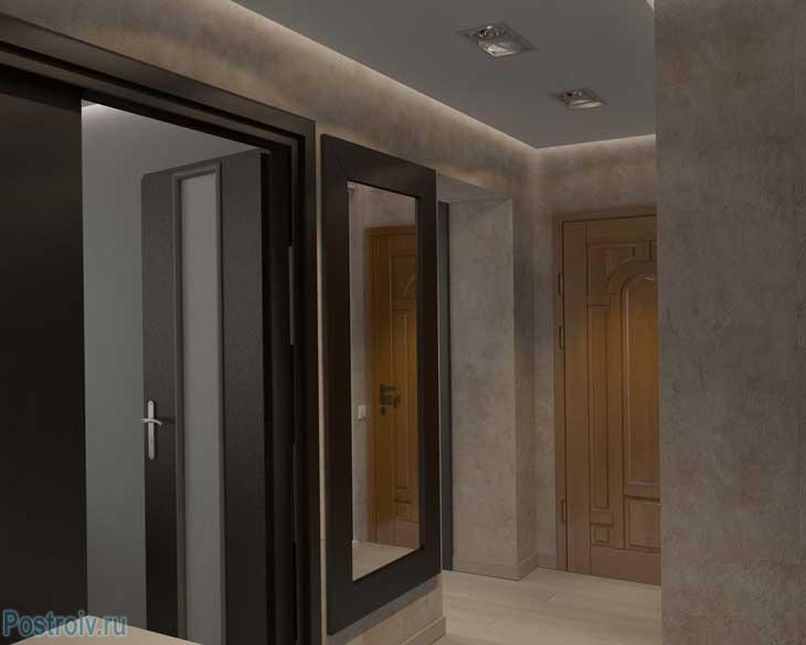 Дизайн коридора в светлых тонах - Фото
