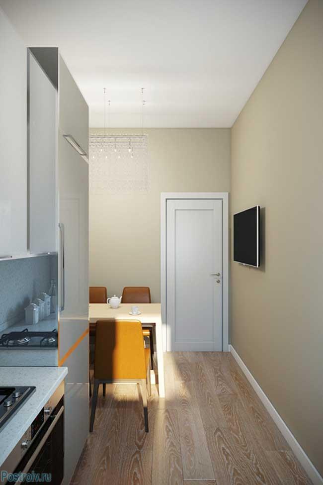 Как оформить очень узкую кухню - Фото