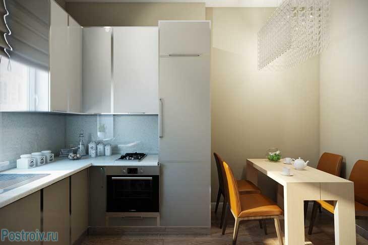 Угловая кухня - Фото