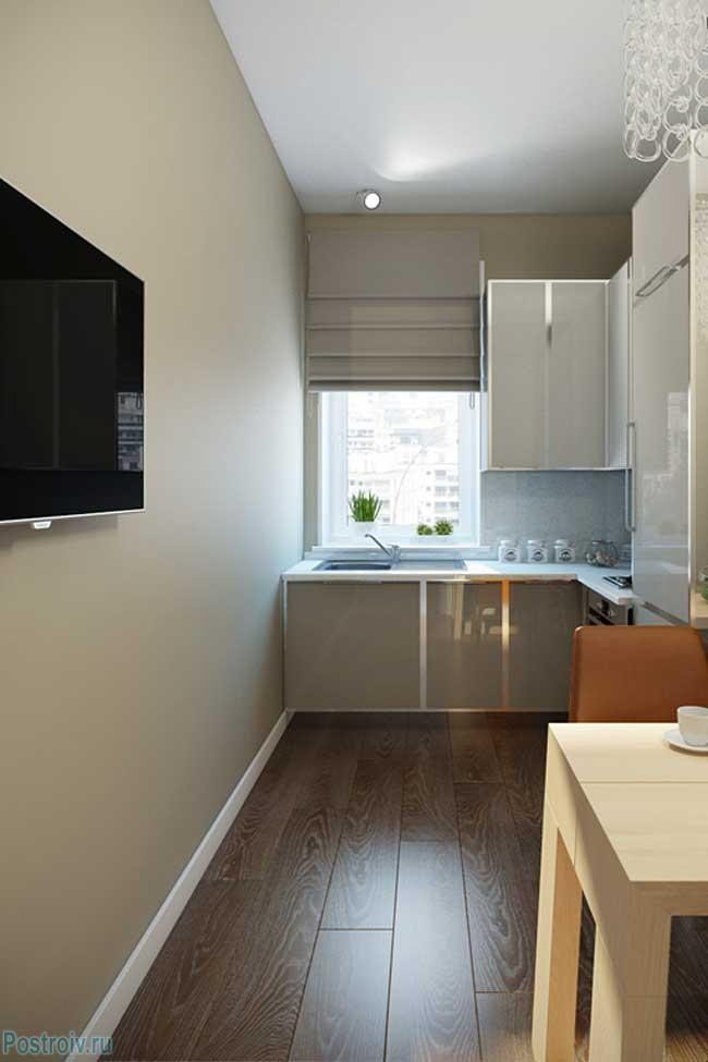 Оформление очень узкой кухни - Фото