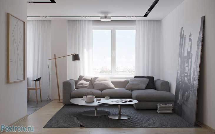 Стиль минимализм в интерьере квартиры. Фото