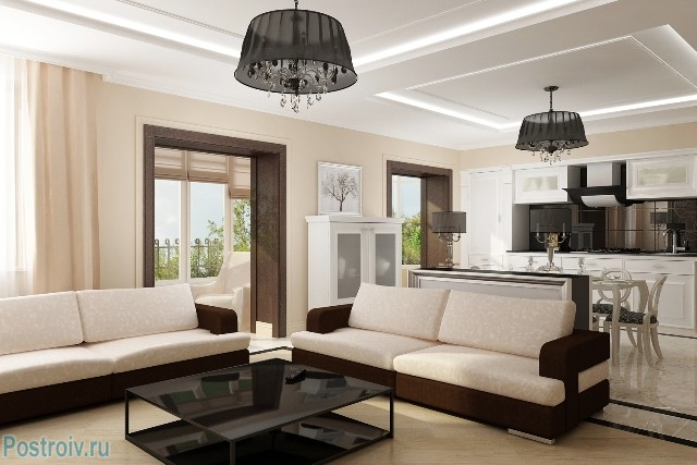 Современный модерн в интерьере гостиной - Фото 15