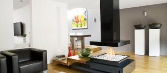 Искусственный камин в интерьере гостиной: огромное количество фото дизайнов